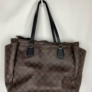 Authentic coach zippered diaper bag